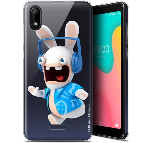 "Coque Gel Wiko Y60 (5.45"") Extra Fine Lapins Crétins™ - Techno Lapin"