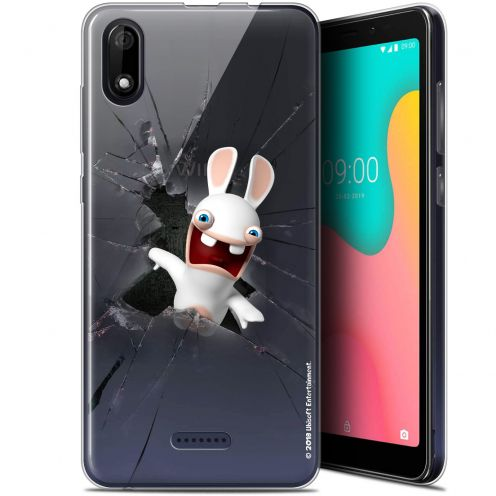 "Coque Gel Wiko Y60 (5.45"") Extra Fine Lapins Crétins™ - Breaking Glass"