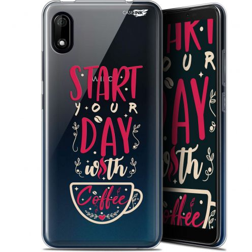 """Coque Gel Wiko Y70 (5.99"""") Extra Fine Motif - Start With Coffee"""