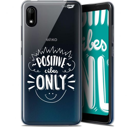"""Coque Gel Wiko Y70 (5.99"""") Extra Fine Motif - Positive Vibes Only"""