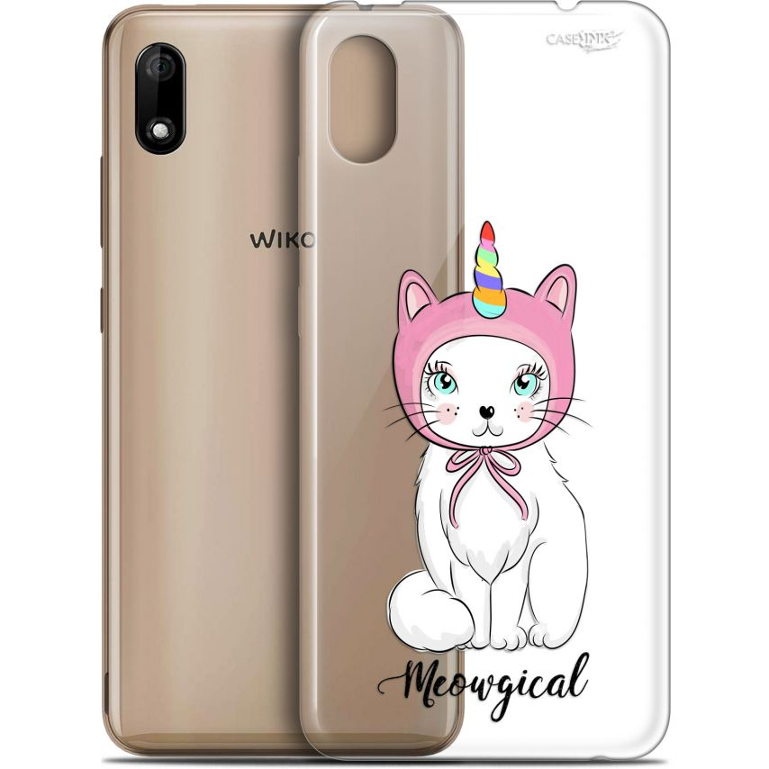 "Coque Gel Wiko Y70 (5.99"") Extra Fine Motif - Ce Chat Est MEOUgical"
