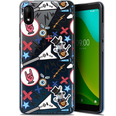 "Coque Gel Wiko Y70 (5.99"") Extra Fine Lapins Crétins™ - Rock Pattern"