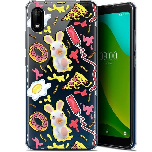 "Coque Gel Wiko Y70 (5.99"") Extra Fine Lapins Crétins™ - Egg Pattern"