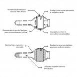 Visuel unique de Brassard Runalyzer® iPhone 3G / iPhone 4 / 4S / Touch M/L