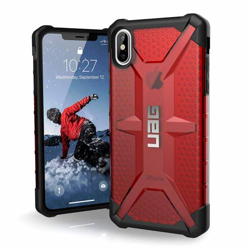Coque Antichoc Apple iPhone XS Max Urban Armor Gear® UAG Plasma Rouge / Transparent