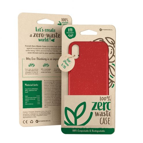 Coque Biodégradable ZERO Waste Huawei Y5 2019 Rouge