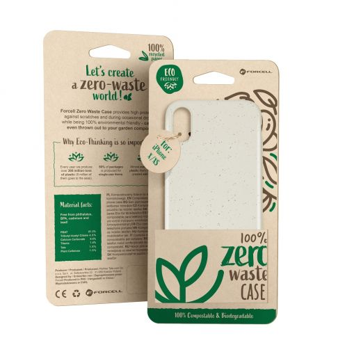 Coque Biodégradable ZERO Waste Huawei Y5 2019 Blanc