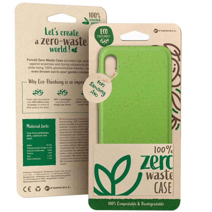 Coque Biodégradable ZERO Waste Samsung Galaxy A10 Vert