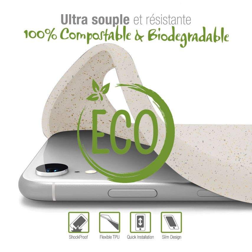 Coque Biodégradable ZERO Waste Huawei Y6 2019 Blanc