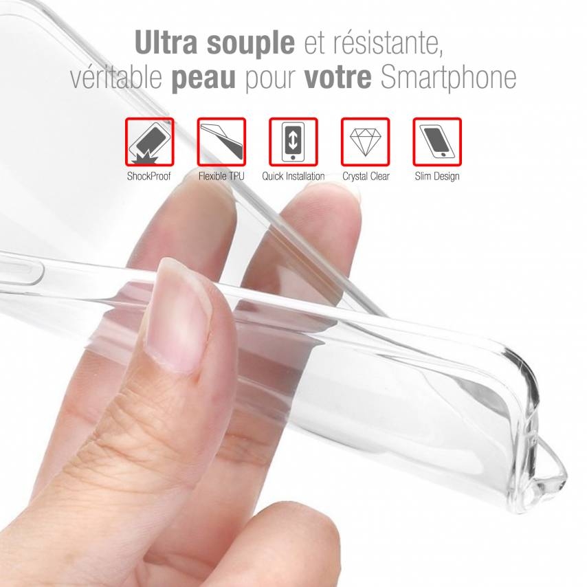 "Coque Wiko Y60 (5.45"") Extra Fine Souple Crystal Clear"