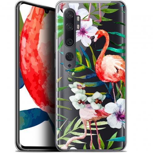 """Coque Gel Xiaomi Mi Note 10 / Pro (6.47"""") Extra Fine Watercolor - Tropical Flamingo"""
