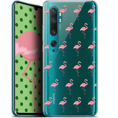 "Coque Gel Xiaomi Mi Note 10 / Pro (6.47"") Extra Fine Pattern - Les flamants Roses Dots"