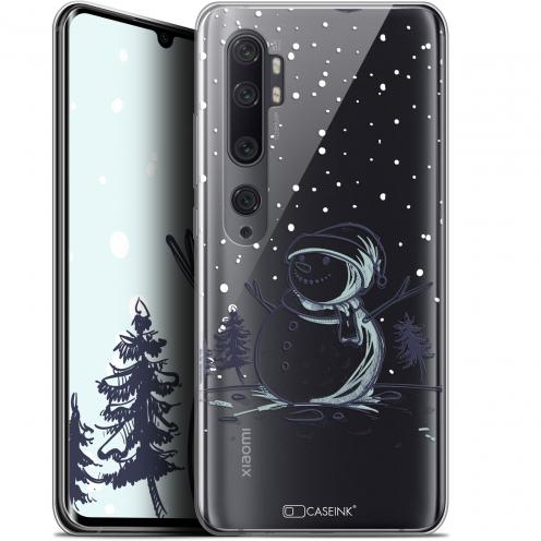 """Coque Gel Xiaomi Mi Note 10 / Pro (6.47"""") Extra Fine Noël 2017 - Bonhomme de Neige"""