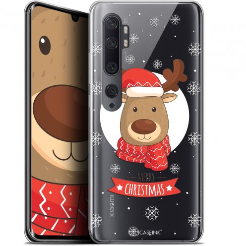 """Coque Gel Xiaomi Mi Note 10 / Pro (6.47"""") Extra Fine Noël 2017 - Cerf à Echarpe"""