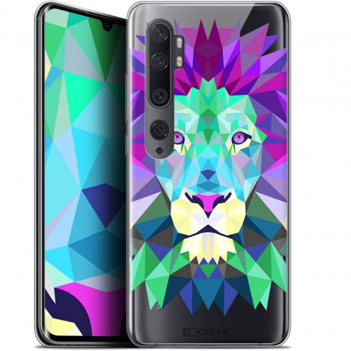 "Coque Gel Xiaomi Mi Note 10 / Pro (6.47"") Extra Fine Polygon Animals - Lion"