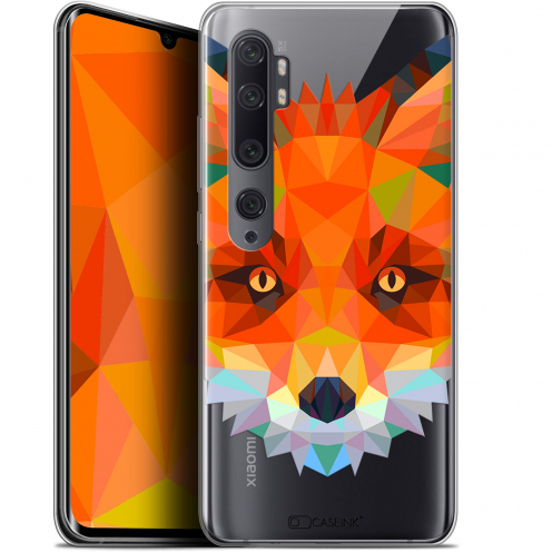 "Coque Gel Xiaomi Mi Note 10 / Pro (6.47"") Extra Fine Polygon Animals - Renard"