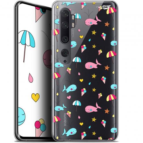 """Coque Gel Xiaomi Mi Note 10 / Pro (6.47"""") Extra Fine Motif - Baleine à la Plage"""