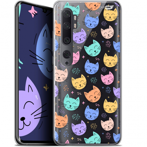"Coque Gel Xiaomi Mi Note 10 / Pro (6.47"") Extra Fine Motif - Chat Dormant"