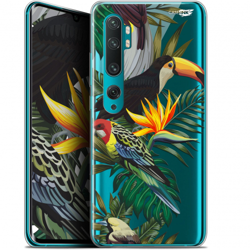 "Coque Gel Xiaomi Mi Note 10 / Pro (6.47"") Extra Fine Motif - Toucan Tropical"