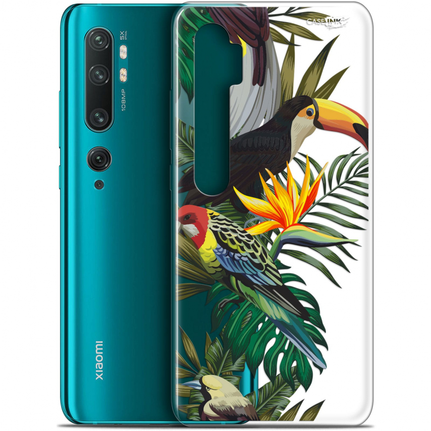 "Coque Gel Xiaomi Mi Note 10 / Pro (6.47"") Extra Fine Motif - Toucan Tropical"