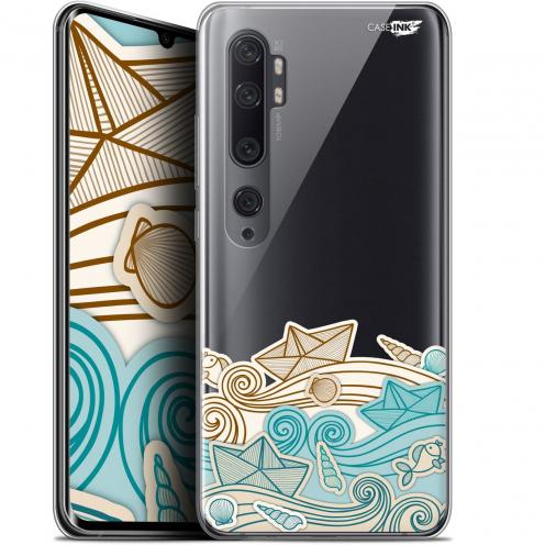 "Coque Gel Xiaomi Mi Note 10 / Pro (6.47"") Extra Fine Motif - Bateau de Papier"