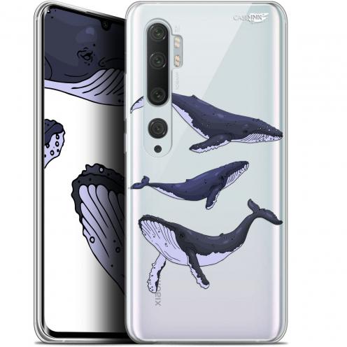"Coque Gel Xiaomi Mi Note 10 / Pro (6.47"") Extra Fine Motif - Les 3 Baleines"