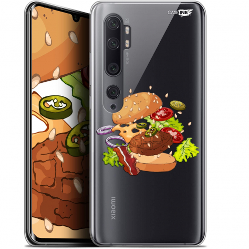 "Coque Gel Xiaomi Mi Note 10 / Pro (6.47"") Extra Fine Motif - Splash Burger"