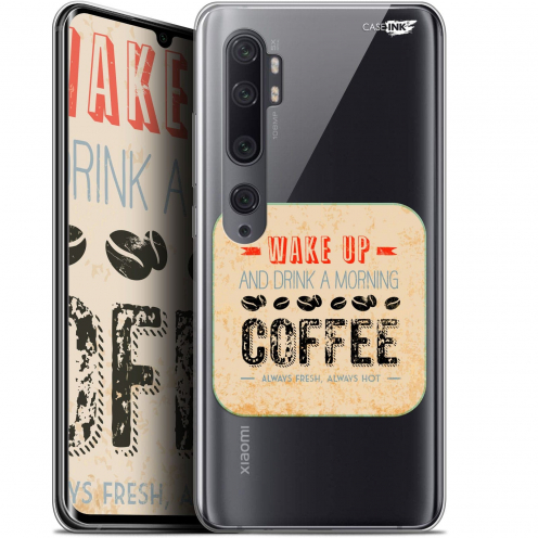 "Coque Gel Xiaomi Mi Note 10 / Pro (6.47"") Extra Fine Motif - Wake Up With Coffee"