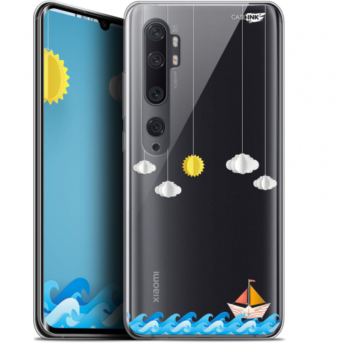 "Coque Gel Xiaomi Mi Note 10 / Pro (6.47"") Extra Fine Motif - Petit Bateau en Mer"