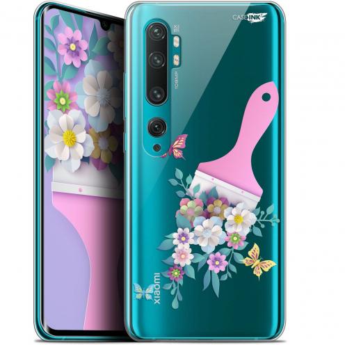 "Coque Gel Xiaomi Mi Note 10 / Pro (6.47"") Extra Fine Motif - Pinceau à Fleurs"