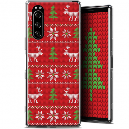 "Coque Gel Sony Xperia 5 (6.1"") Extra Fine Noël 2017 - Couture Rouge"