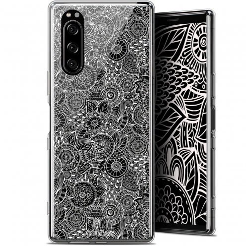 """Coque Gel Sony Xperia 5 (6.1"""") Extra Fine Dentelle Florale - Blanc"""