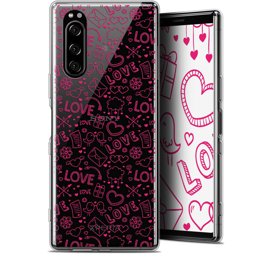 """Coque Gel Sony Xperia 5 (6.1"""") Extra Fine Love - Doodle"""