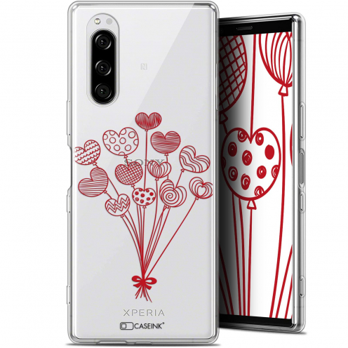 "Coque Gel Sony Xperia 5 (6.1"") Extra Fine Love - Ballons d'amour"