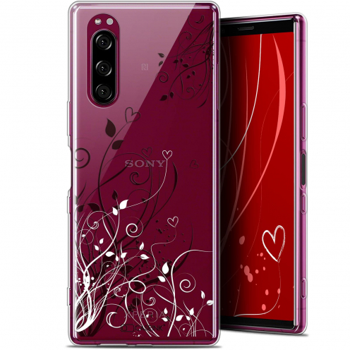 """Coque Gel Sony Xperia 5 (6.1"""") Extra Fine Love - Hearts Flowers"""