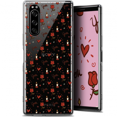"Coque Gel Sony Xperia 5 (6.1"") Extra Fine Love - Bougies et Roses"