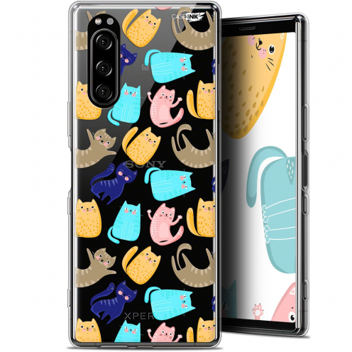 """Coque Gel Sony Xperia 5 (6.1"""") Extra Fine Motif - Chat Danse"""