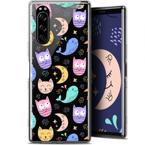 """Coque Gel Sony Xperia 5 (6.1"""") Extra Fine Motif - Chat Hibou"""
