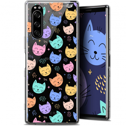 """Coque Gel Sony Xperia 5 (6.1"""") Extra Fine Motif - Chat Dormant"""