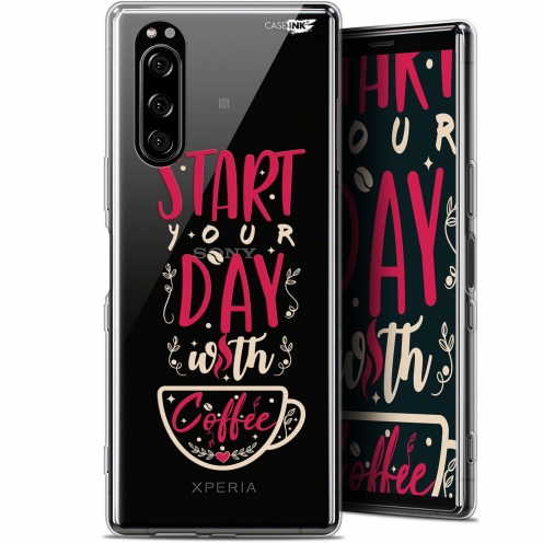 """Coque Gel Sony Xperia 5 (6.1"""") Extra Fine Motif - Start With Coffee"""