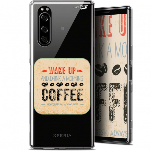 """Coque Gel Sony Xperia 5 (6.1"""") Extra Fine Motif - Wake Up With Coffee"""
