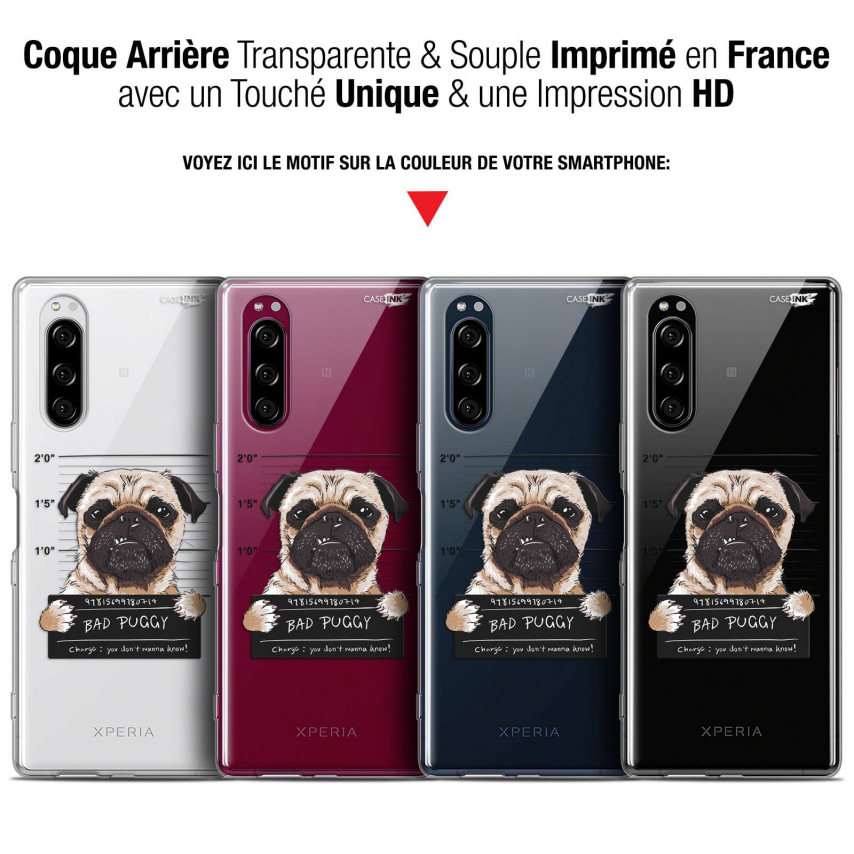 "Coque Gel Sony Xperia 5 (6.1"") Extra Fine Motif - Beware The Puggy Dog"