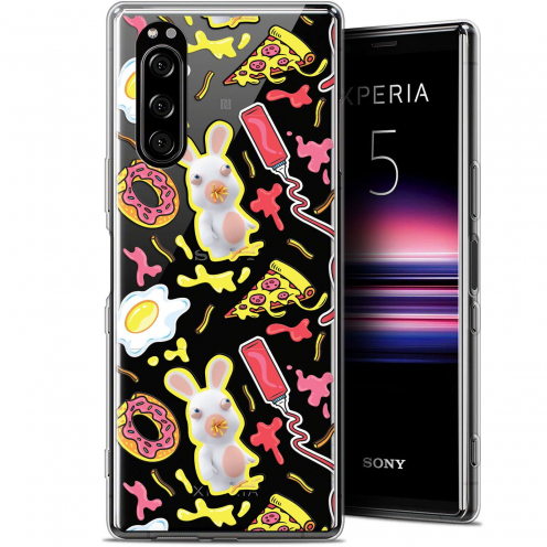 "Coque Gel Sony Xperia 5 (6.1"") Extra Fine Lapins Crétins™ - Egg Pattern"