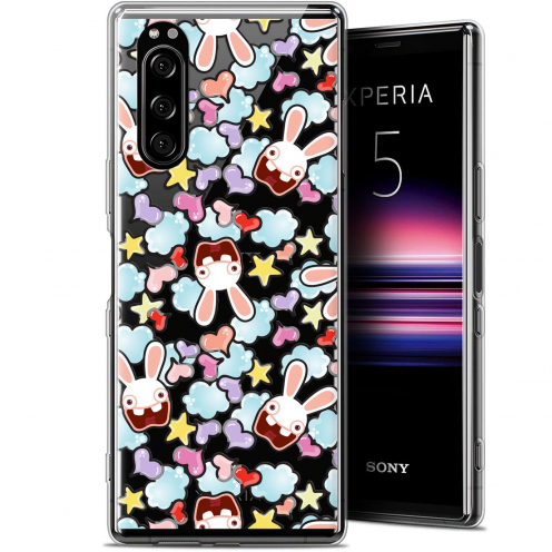 "Coque Gel Sony Xperia 5 (6.1"") Extra Fine Lapins Crétins™ - Love Pattern"