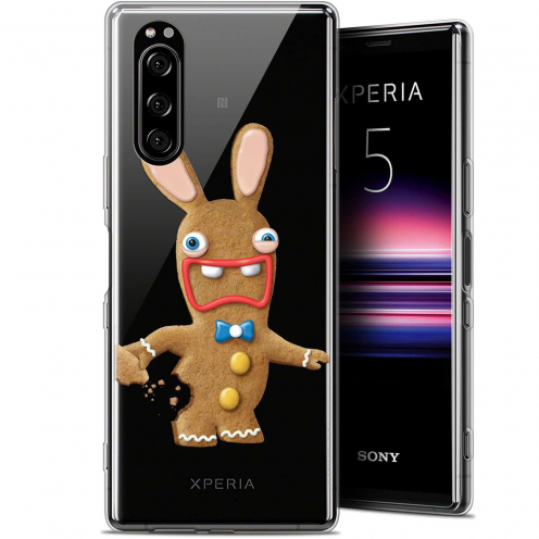 """Coque Gel Sony Xperia 5 (6.1"""") Extra Fine Lapins Crétins™ - Cookie"""