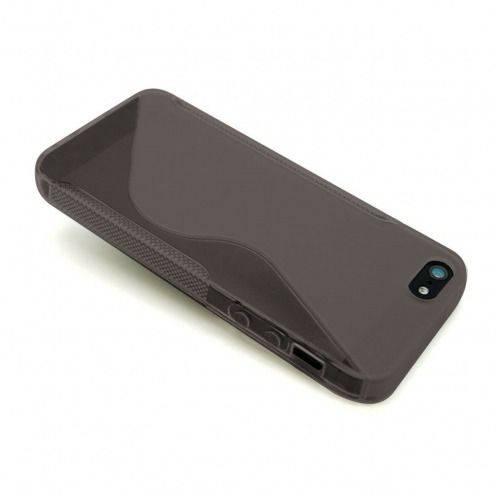 Vue complémentaire de Coque iPhone 5 Tpu Basics SLine Noire fumée