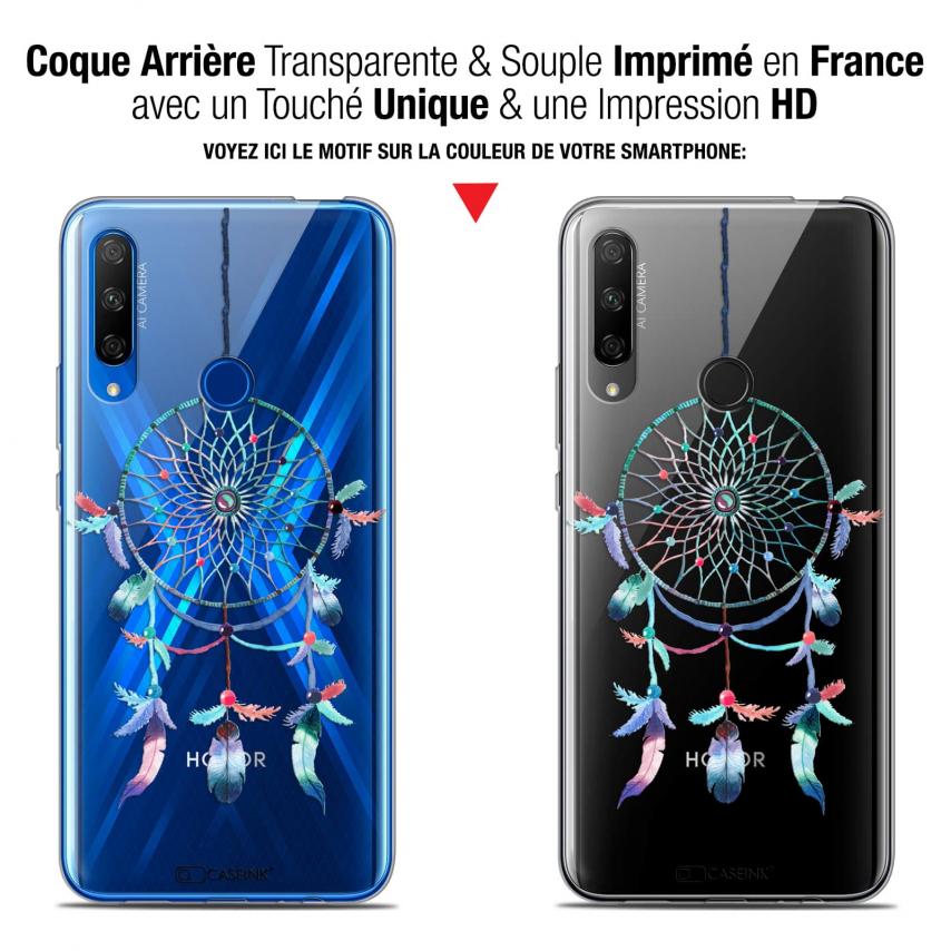 "Coque Gel Huawei Honor 9X (6.59"") Extra Fine Dreamy - Attrape Rêves Rainbow"