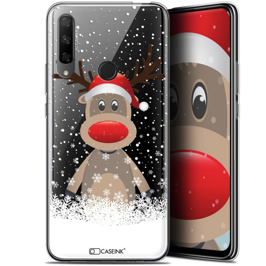 "Coque Gel Huawei Honor 9X (6.59"") Extra Fine Noël 2017 - Cerf au Bonnet"