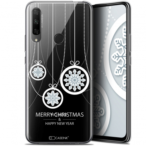 "Coque Gel Huawei Honor 9X (6.59"") Extra Fine Noël 2017 - Christmas Balls"