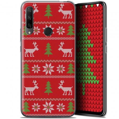 """Coque Gel Huawei Honor 9X (6.59"""") Extra Fine Noël 2017 - Couture Rouge"""